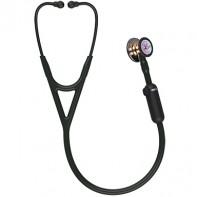 3M™ Littmann® CORE Digital Stethoscope, High Polish Rainbow Chestpiece Black Tube, Stem and Headset, 27 inch, #8570