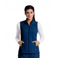 Barco One 2-Pocket Mock Neck Princess Zip Vest #5406