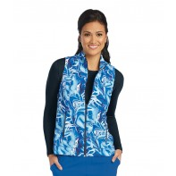 Barco One 2-Pocket Mock Neck Print Vest #5407