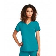 Grey's Anatomy Women's V-Neck Scrub Top w/Shirr Back #71166