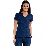 Women's Embrace Textured Solid Scrub Top #BOT054