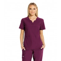 "Grey's Anatomy Edge Women's ""Axis"" Solid Scrub Top #GET013"