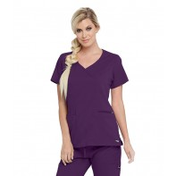 Women's Kim Surplice Solid Scrub Top #GRST001