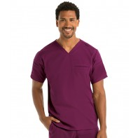 Men's Wesley Welt Pocket Solid Scrub Top #GRST009