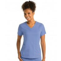 Women's Emma V-Neck Solid Scrub Top #GRST011