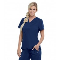 Women's Bree Tuck-In Solid Scrub Top #GVST028