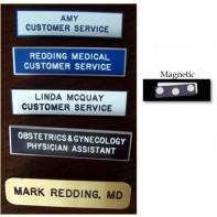2.5 Inch Laminated Plastic Name Badge #1015  (Magnetic Closure)
