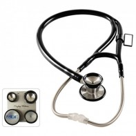 MDF® ProCardial C3 Cardiology Stainless Steel Dual Head Stethoscope with Adult, Pediatric, and Infant-Neonatal Convertible Chestpiece (MDF797CC)-Black(MDF11)