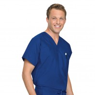 Landau Reversible Unisex Scrub Top #7502-XL-Navy(BNP)