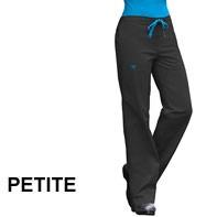 MedCouture Women's Drawstring Solid PETITE Scrub Pant #8705P