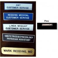 "2.5 Inch Laminated Plastic Name Badge #1015-L-2.5""            (Pin-Clasp Closure)"