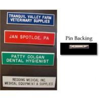 "3 Inch Laminated Plastic Name Badge #1015-L-3""         (Pin-Clasp Closure)"