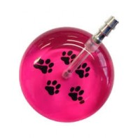 UltraScope Cardiology Stethoscope with Paw Print Design #026-Hot Pink/Black