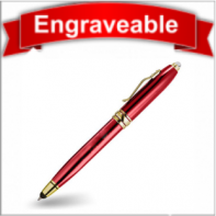 Three Function Pen with Stylus and LED Light #61105-Red
