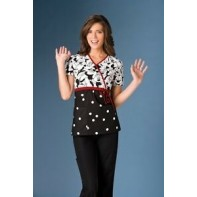 Tooniforms Mock Wrap Top #6625C