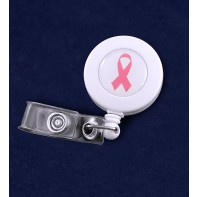 Breast Cancer Retractable ID Holder #S13-PR (Pink Ribbon)