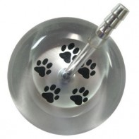 UltraScope Cardiology Stethoscope with Paw Print Design #026-Silver/Black