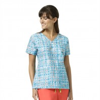 "Vera Bradley ""Maya"" V-Neck Print Top-Abstract Blocks #V6107-AKS"