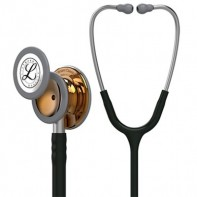 3M™ Littmann® Classic III™ Monitoring Stethoscope High-polish Copper Chestpiece, Black Tube, Stainless Headset, 27 inch, 5646