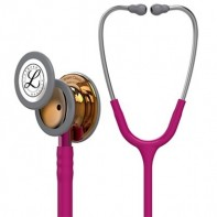 3M™ Littmann® Classic III™ Monitoring Stethoscope High-polish Copper Chestpiece, Raspberry Tube, Stainless Headset,Pink Stem 27 inch, 5647