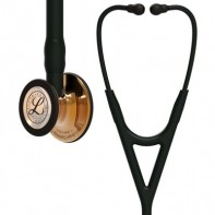3M™ Littmann® Cardiology IV™ Diagnostic Stethoscope,  High-polish Copper Chestpiece, Black Tube, Smoke Headset, 27 inch, 6180