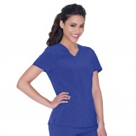 "Urbane ""Motivate"" Performance Solid V-Neck Top #9015"