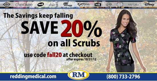 Save 20% on all Scrubs
